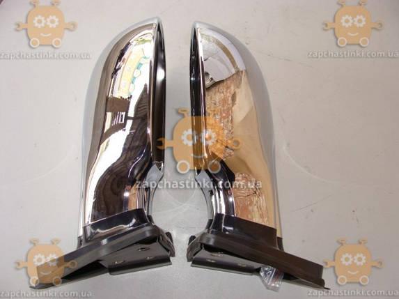 Зеркало ВАЗ 2101 - 2108 ХРОМ! ТЮНИНГ универсальные (к-кт 2шт) ПОЛ, фото 2