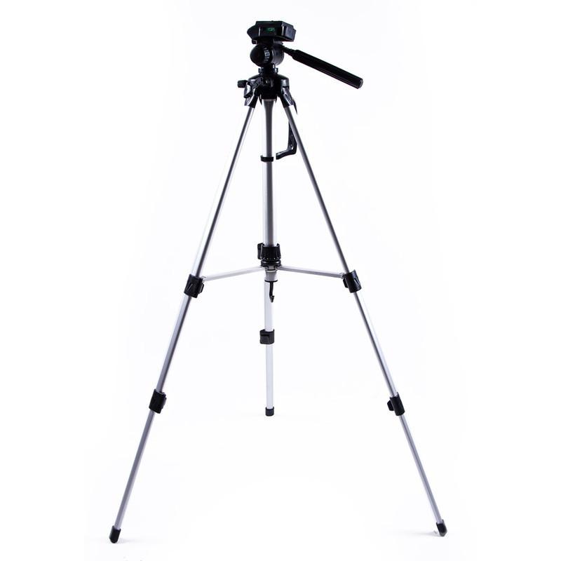 Штатив тренога для телефона 60-122 см, камеры, фотоаппарата, цвет серебряный, STC-260