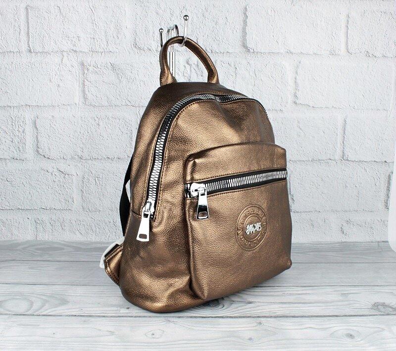 Рюкзак бронзовый кожзам Velina Fabbiano 53960-30