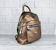 Рюкзак бронзовый кожзам Velina Fabbiano 53960-30, фото 1
