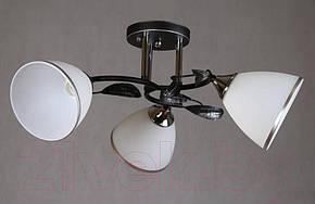 Люстра потолочная с черным основанием+хром на 3 плафона B N2709/3, фото 2