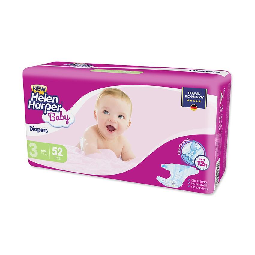 Підгузки Helen Harper Baby 3 (4-9кг), 52шт
