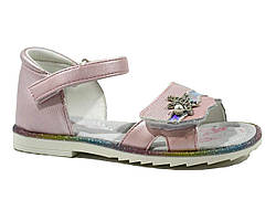 Розовые босоножки ТомМ с жемчужиной для девочек 25-30 р
