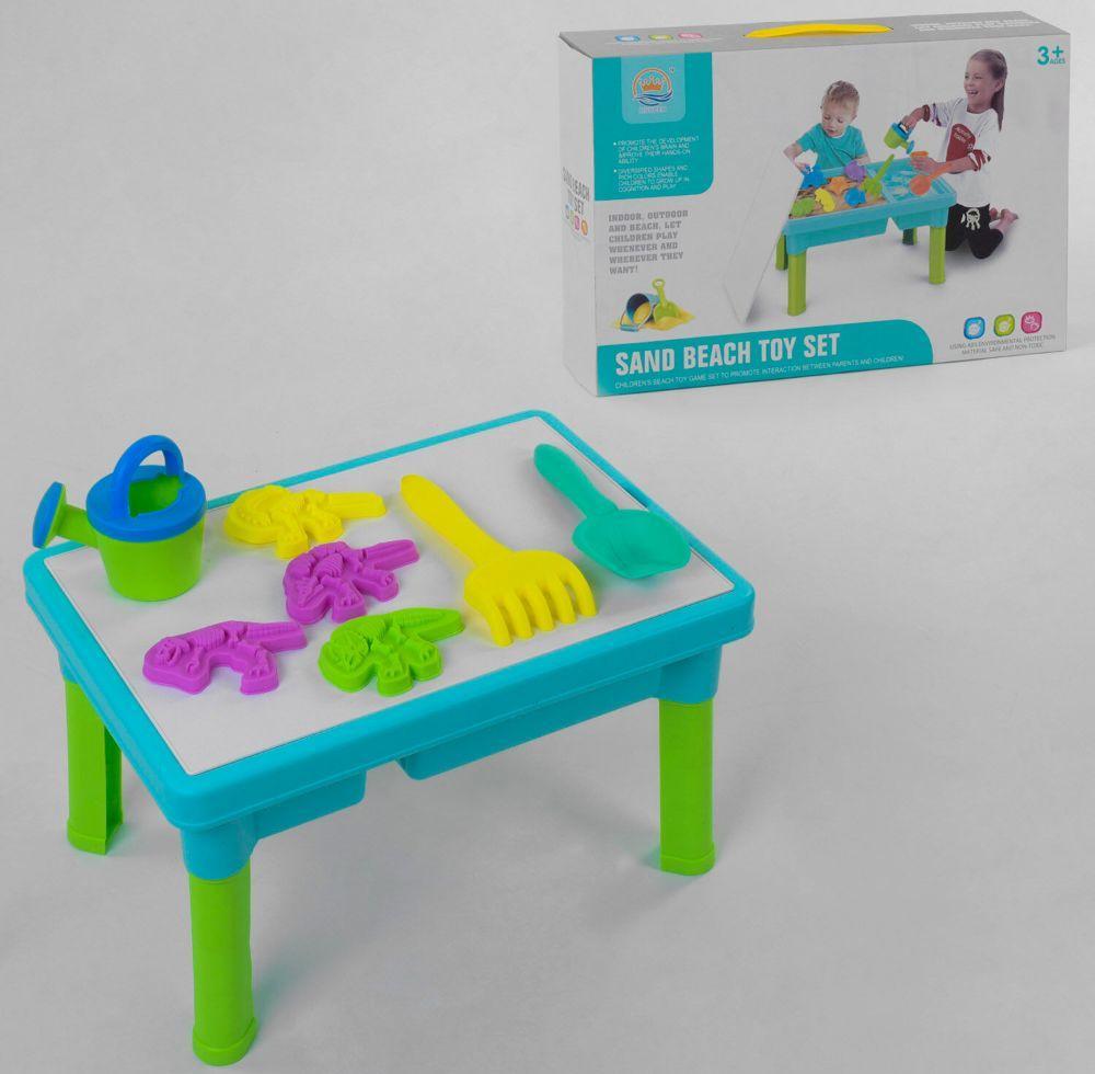 Багатофункціональний столик-пісочниця зі стільницею для гри з піском і водою R 399-8 та аксесуарами