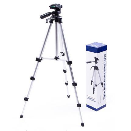 Штатив тренога для телефона, камеры, фотоаппарата, цвет серебряный, SL-2111, 40 - 118 см, фото 2