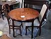 Кухонный комплект -Гаити. Стол раздвижной, 2 стула. Цвет - орех темный., фото 2