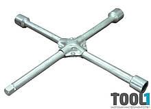 Ключ баллонный крестовой 17, 19, 22, 1/2'' усиленный 350 мм MASTERTOOL 73-0313