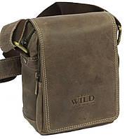 Кожаная сумка Always Wild 250591 коричневый