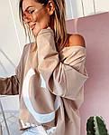 Женская туника, двунить, р-р универсальный 42-52 (бежевый), фото 4