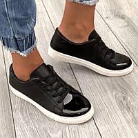 Модные женские кроссовки чёрные