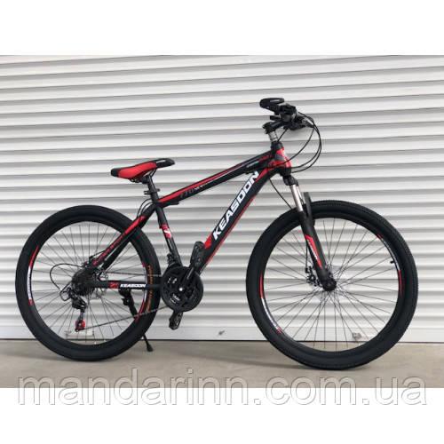 Спортивний велосипед TopRider-KEASOON 26 дюймів. Рама 17. Дискові гальма. Чорно-Червоний