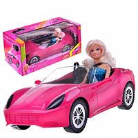 Игровой набор Кукла Defa 29 см в машинке 40 см Кабриолет, ремни безопасности 8228 Т