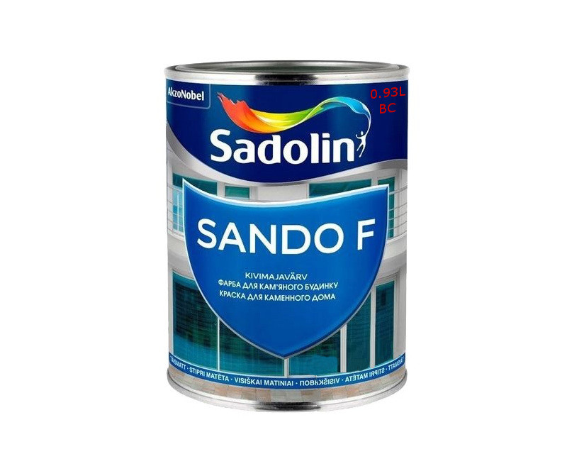 Краска латексная SADOLIN SANDO F фасадная транспарентная - база ВC 0,93л