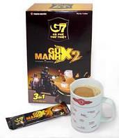Вьетнамский  растворимый кофе 3в1 с сахаром и сливками G7 Gu Manh x2 300g (12s*25g)