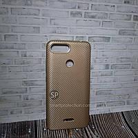 Силиконовый чехол накладка для Xiaomi Redmi 6 золотой  Ace Case