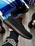 Мужские кроссовки Adidas Yeezy Boost 350 Black (черные) - 395TP, фото 2