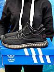 Мужские кроссовки Adidas Yeezy Boost 350 Black (черные) - 395TP, фото 4