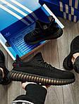 Мужские кроссовки Adidas Yeezy Boost 350 Black (черные) - 395TP, фото 5