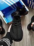 Мужские кроссовки Adidas Yeezy Boost 350 Black (черные) - 395TP, фото 7
