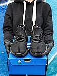 Мужские кроссовки Adidas Yeezy Boost 350 Black (черные) - 395TP, фото 8