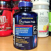 Puritan's Pride Triple Strength Glucosamine Chondroitin MSM 180 cap хондропротектор для суставов и связок