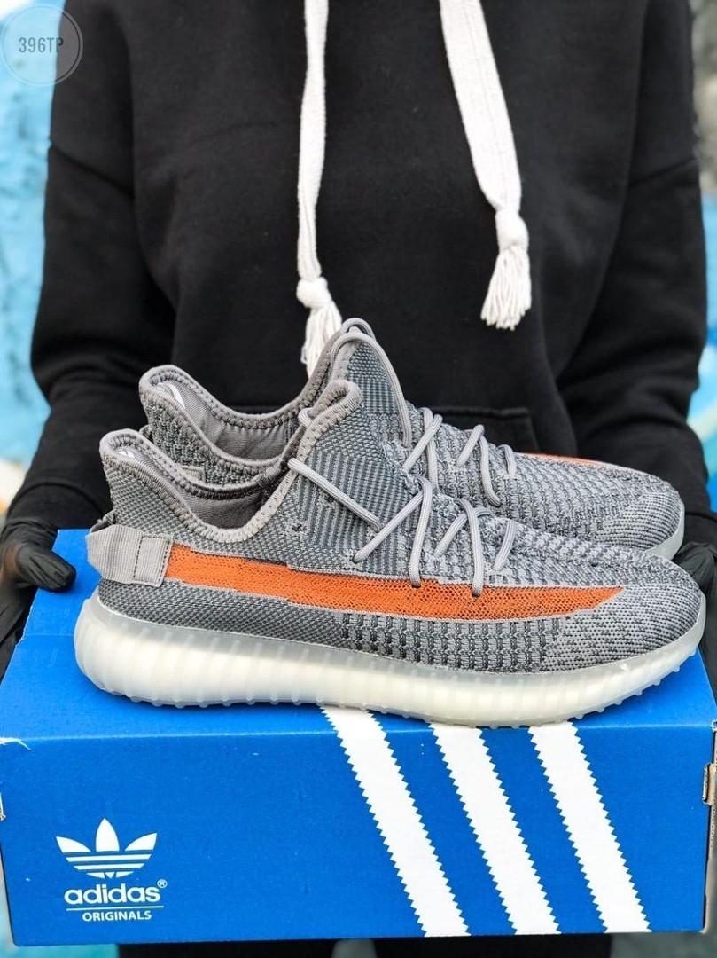 Мужские кроссовки Adidas Yeezy Boost 350 Gray (серые) - 396TP