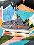 Чоловічі кросівки Adidas Yeezy Boost 350 Gray (сірі) - 396TP, фото 3