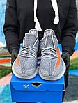 Мужские кроссовки Adidas Yeezy Boost 350 Gray (серые) - 396TP, фото 4