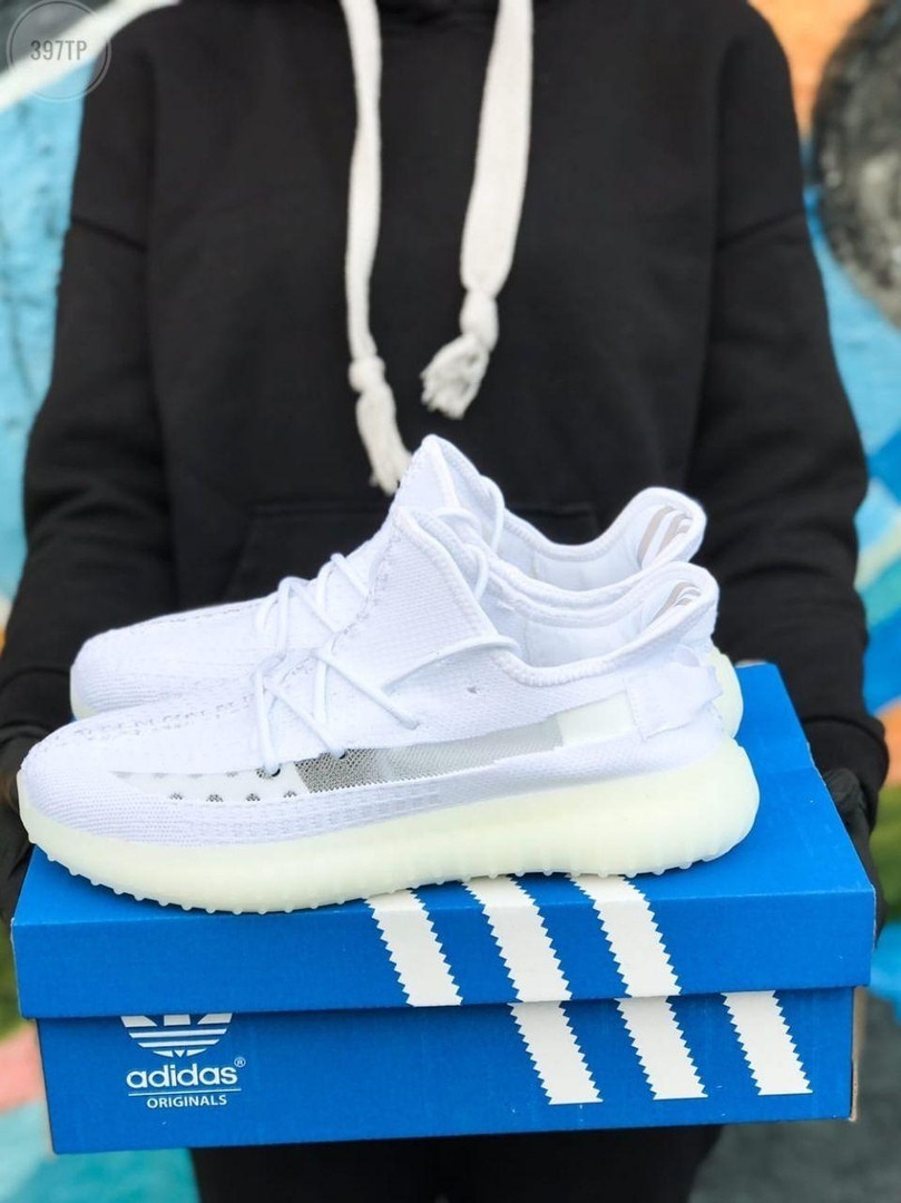 Мужские кроссовки Adidas Yeezy Boost 350 White (белые) - 397TP