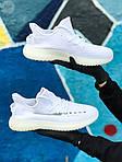 Мужские кроссовки Adidas Yeezy Boost 350 White (белые) - 397TP, фото 3