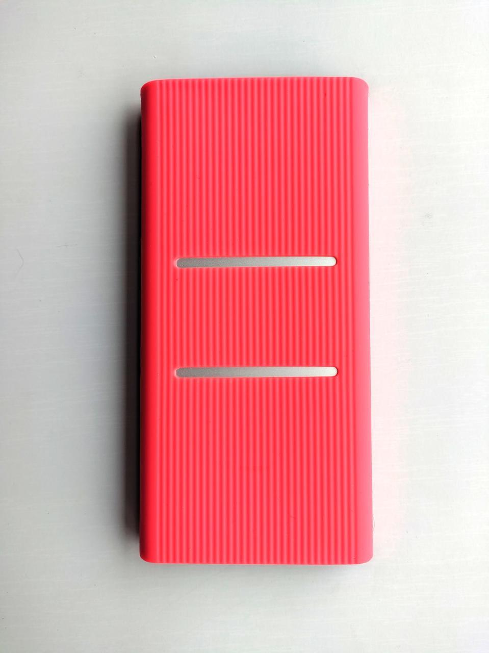 Чехол для Xiaomi Power bank 2s / 3 10000 с прорезями 2xUSB PLM09ZM / PLM12ZM Розовый