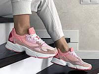 Женские кроссовки Adidas Falcon (розовые) 9324