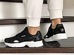 Женские кроссовки Adidas Falcon (черно-белые) 9326, фото 3