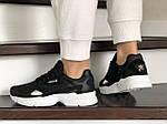 Жіночі кросівки Adidas Falcon (чорно-білі) 9326, фото 3