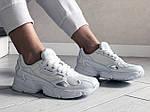 Жіночі кросівки Adidas Falcon (білі) 9328, фото 4