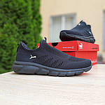 Мужские летние кроссовки Puma (черные) 10138, фото 7