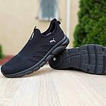 Мужские летние кроссовки Puma (черные) 10138, фото 9