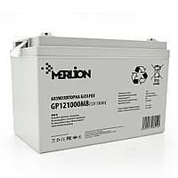 Акумуляторна батарея MERLION AGM GP121000M8 12 V 100 Ah ( 345 x 182 x 275 ) White Q1