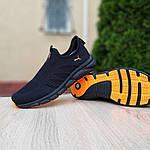 Мужские летние кроссовки Puma (черно-оранжевые) 10140, фото 4