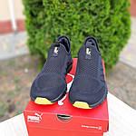 Мужские летние кроссовки Puma (черно-оранжевые) 10140, фото 7
