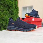 Мужские летние кроссовки Puma (черно-оранжевые) 10140, фото 8