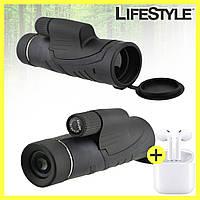 Монокуляр Binoculars 40x60 TJ с двойной фокусировкой + чехол и наушники i12 в Подарок