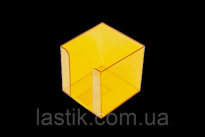 Бокс для бумаги 90х90х90мм, JOBMAX, лимонный