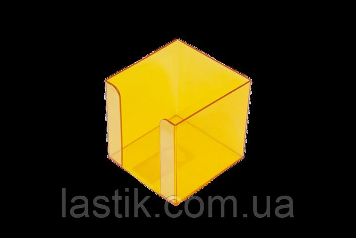 Бокс для бумаги 90х90х90мм, JOBMAX, лимонный, фото 2