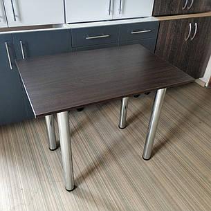 Кухонный стол на хромированных ножках столешница 16 мм 900х600 мм.. Простой надежный стол на кухню., фото 2