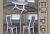"""Комплект """"Обідній 14"""". Стіл розсувний, 4 стільця. Колір - слонова кістка,білий., фото 2"""