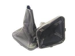 Чехол ручки кпп с рамкой кожа ВАЗ 2110 черный