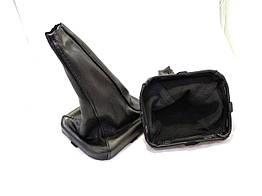 Чехол ручки кпп с рамкой кожа ВАЗ 2113 2114 2115 черный