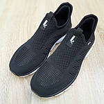 Мужские летние кроссовки Puma (черно-белые) 10139, фото 4