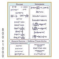 Плакат производные, интегралы